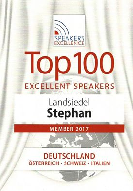 Urkunde Top 100 Excellent Speakers